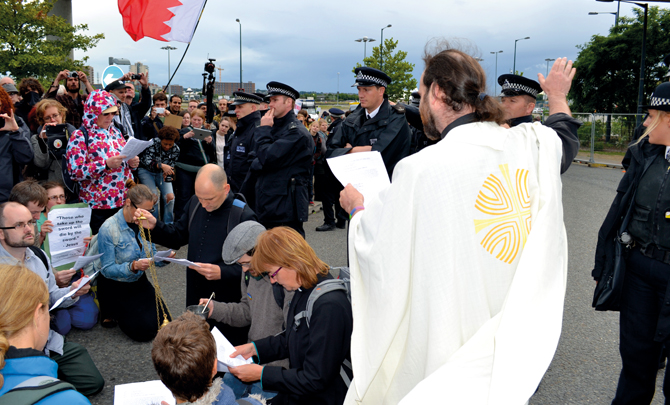Christian activist: We exorcised the arms fair