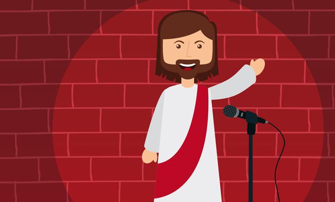 Jumble sales of the apocalypse: Jesus' sense of humour