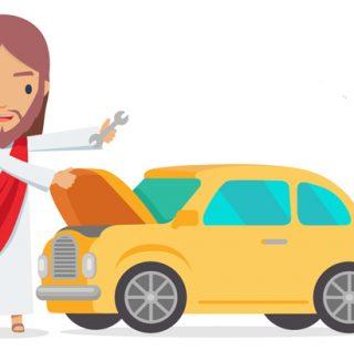 Jumble sales of the apocalypse: Jesus, Mary and motors