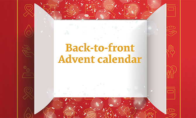 Back-to-front Advent calendar