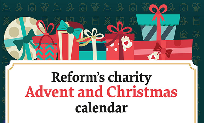 Reform's charity Advent and Christmas calendar